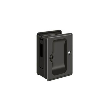 Heavy Duty Door Locks - Deltana SDAR325U10B Heavy Duty Pocket Lock Adjutable Sliding Door Receiver, Oil-Rubbed Bronze