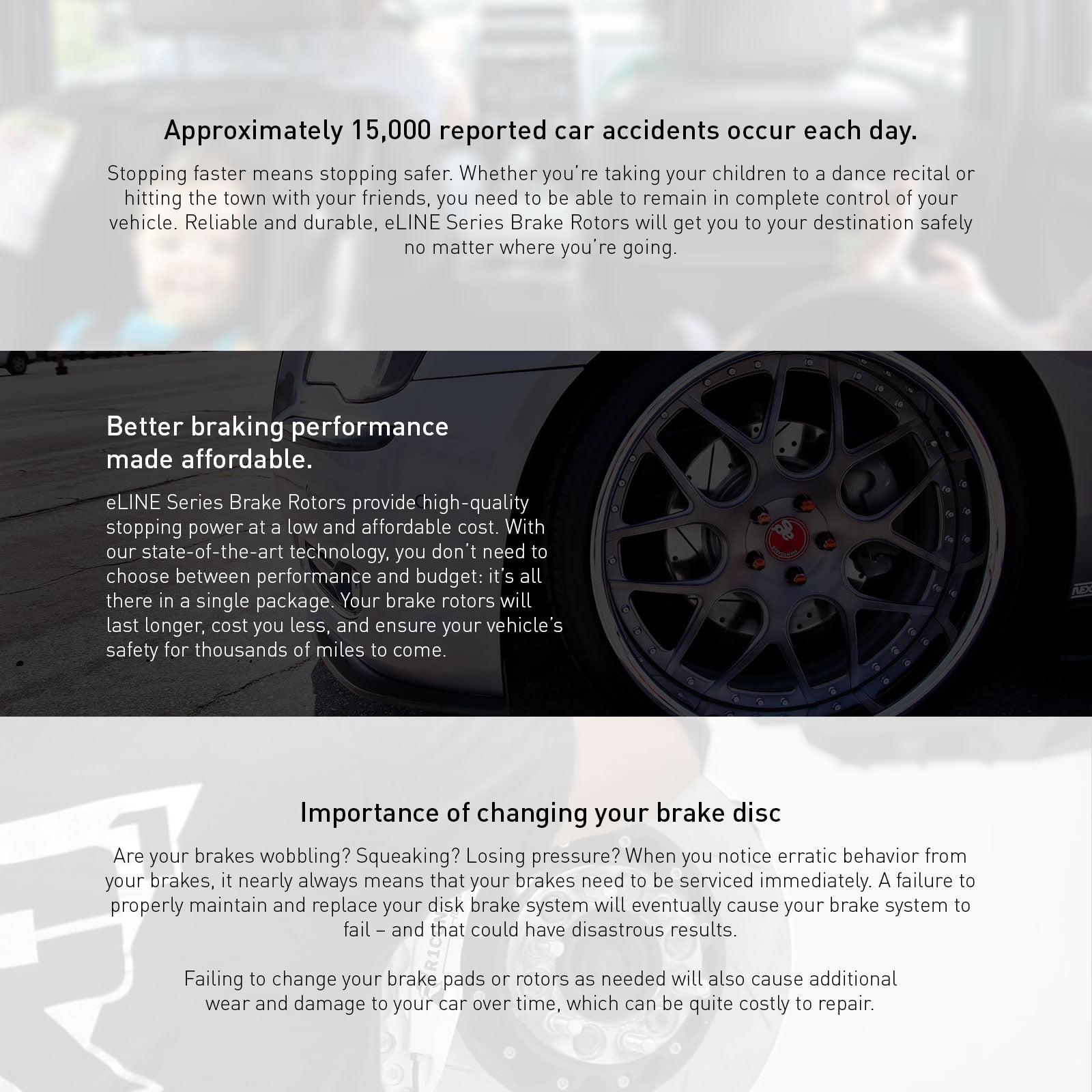 330xi For BMW 330i 330Ci Rear Black Drill Slot Brake Rotors+Ceramic Brake Pads