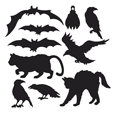 Halloween Silhouettes 10pk (2 pack) (Halloween Silhouette Craft)