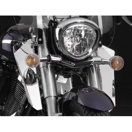 National Cycle N76604 Switchblade Chrome Lower Deflectors for Honda -