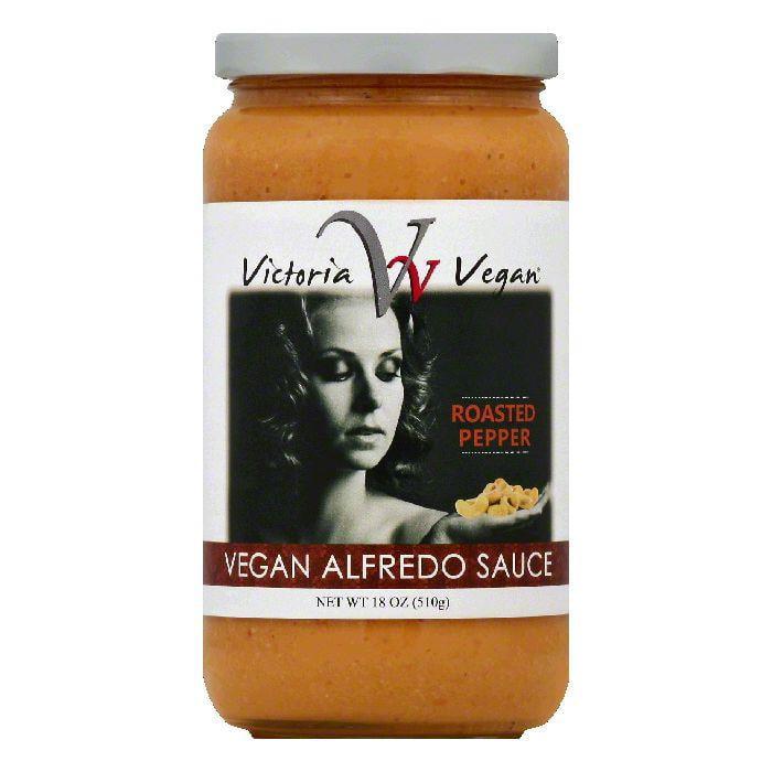 Victoria Vegan Roasted Pepper Vegan Alfredo Sauce 18 Oz Pack Of 6 Walmart Com Walmart Com