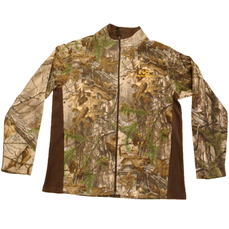 Realtree Men's Fleece Camo Full Zip Jacket, Realtree Xtra