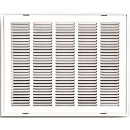 Return Grille Filter - Truaire Stamped Return Air Filter Grille, Hinged, 20 In. X 16 In., White