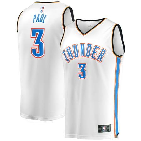 Chris Paul Oklahoma City Thunder Fanatics Branded Youth Fast Break Replica Player Jersey White - Association Edition