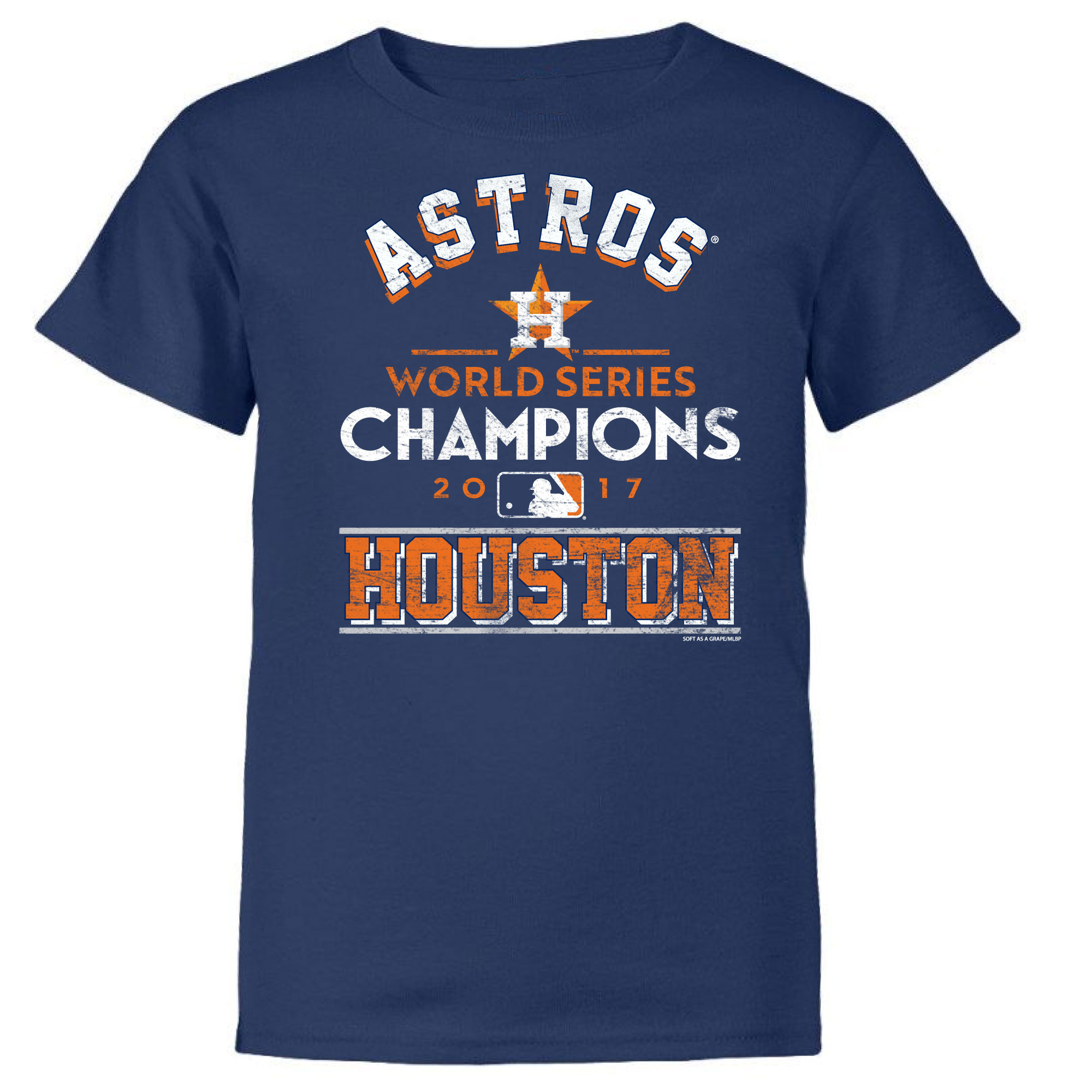 Houston Astros Soft as a Grape Youth 2017 World Series Champions T-Shirt - Navy