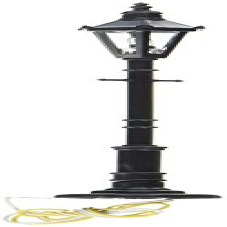 O Old Time Gas Lamp Post, Frosted/Gray (3) by Model Power