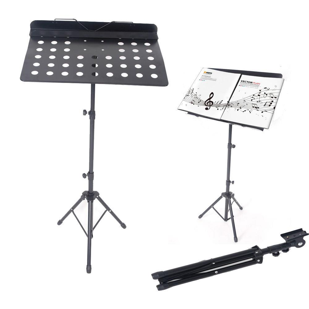 Ktaxon Durable Adjustable Folding Music Stand Holder Fold Stage Black