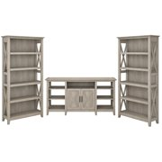 Bush Furniture Key West Tall TV Stand with Set of 2 Bookcases