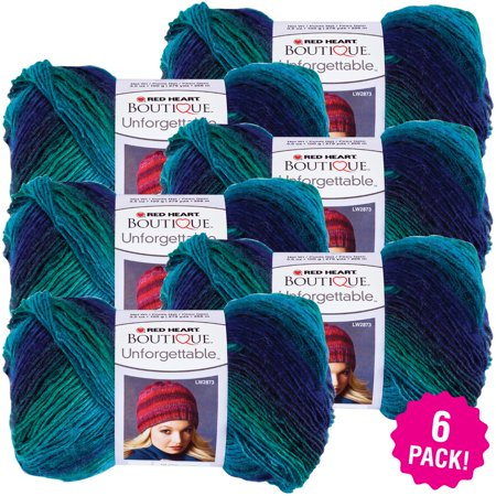 Red Heart Boutique Unforgettable Yarn - Dragonfly, Multipack of 6 - Dragonfly Boutique