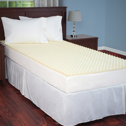 Everyday Home Mattress Topper Egg Crate Ventilated Foam