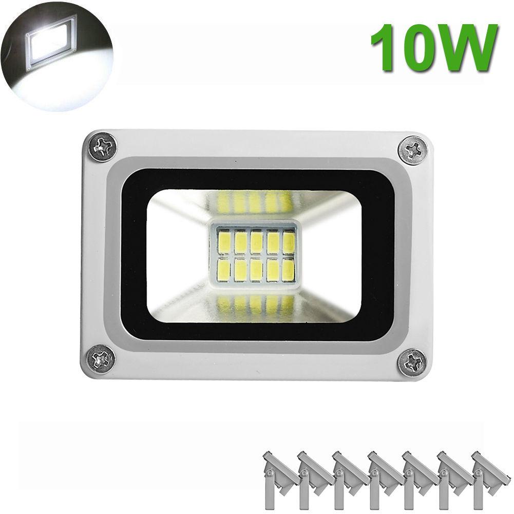 8X 10W LED Flood Light Outdoor Garden Landscape Yard White Spot Lamp Waterproof
