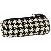 Bluefig Pearl District Zippered Accessories Case-Ebony - Black Houndstooth