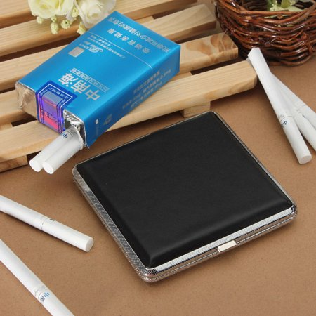 New Leather Pocket Cigarette Tobacco Case Box Holder 20Pcs Cigar Smoke Box - image 9 de 9