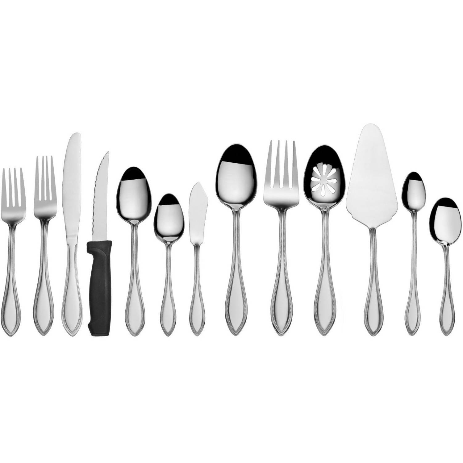 International Silver American Bead 102-Piece Stainless Flatware Set by Lifetime Brands