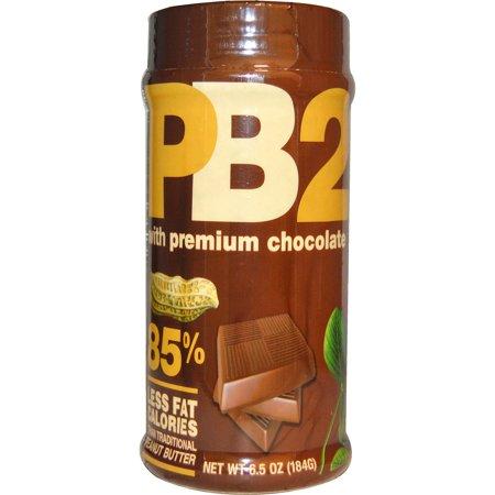 Premium Peanut - Bell Plantation, PB2, Powdered Peanut Butter with Premium Chocolate, 6.5 oz(pack of 12)
