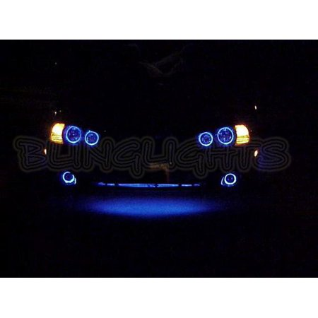 - 2001 2002 2003 Hyundai Elantra GLS Halos Fog Lamps Angel Eyes Driving Lights Foglamps Foglights Kit