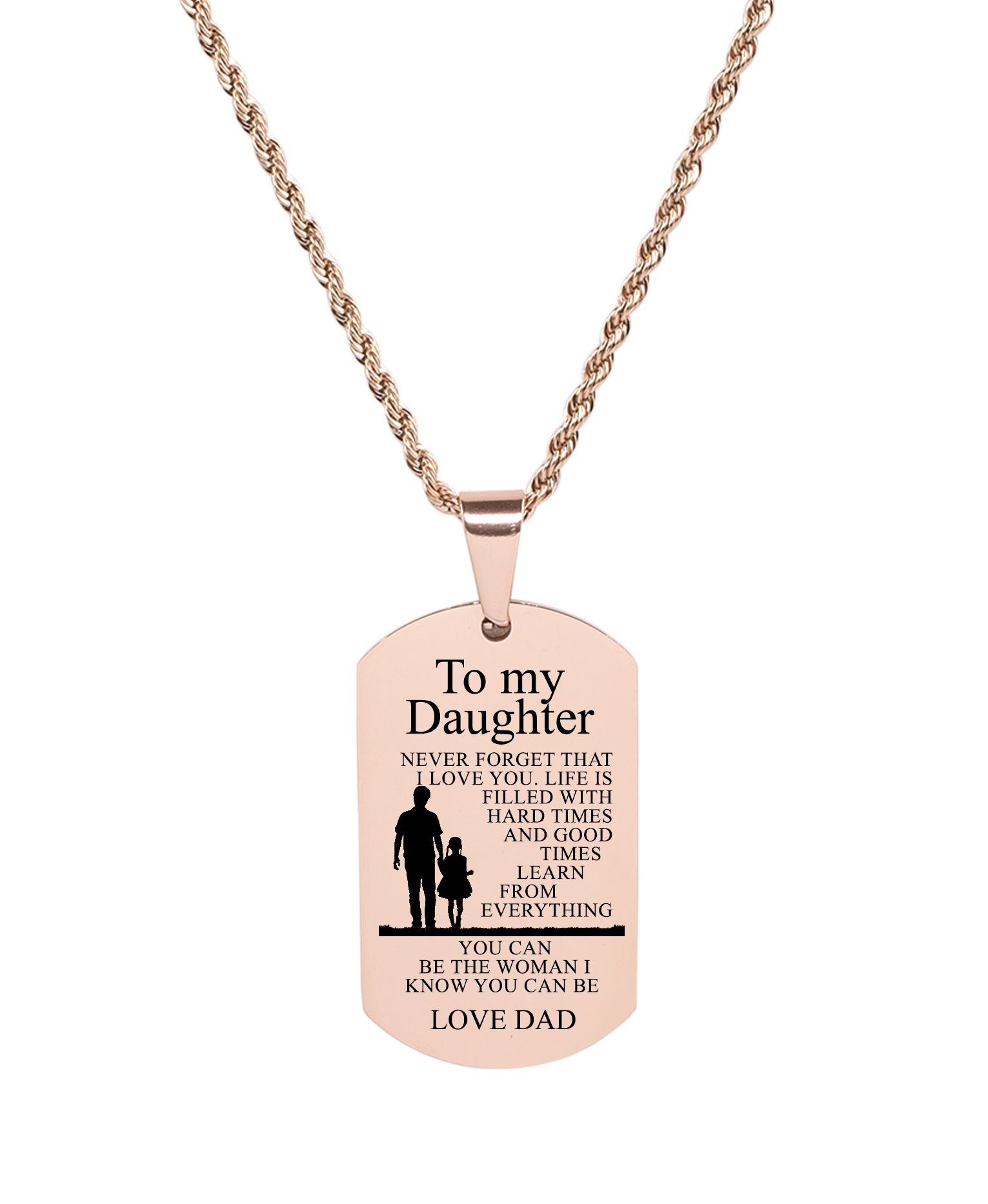 Pink Box Double Bar Bible Verse Necklace Isaiah 41:10 Gold
