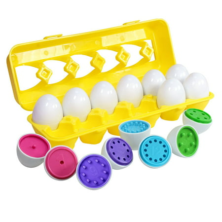 Count & Match Egg Set - Toddler Toys - Preschool Educational Color & Number Recognition Skills Learning Toy (Toys In Eggs)