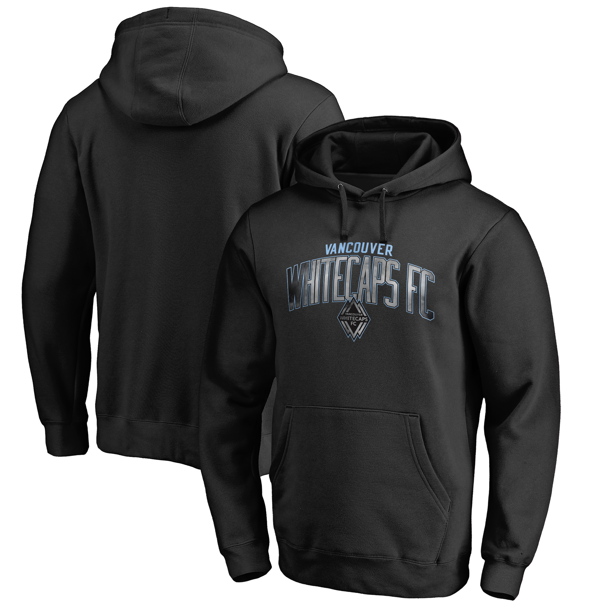 Vancouver Whitecaps FC Fanatics Branded Arch Smoke Pullover Hoodie - Black