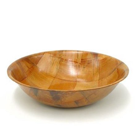 WINCO WWB 8 Wooden woven Salad Bowl, 8-inch a set of 4