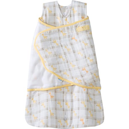 Sack Race Sacks To Buy (HALO SleepSack Swaddle, 100% Cotton Muslin, Yellow Giraffe Plaid,)