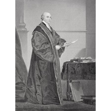 John Jay 1745   1829 Us Jurist And First Chief Justice Of The Supreme Court Of The United States From Painting By Alonzo Chappel Posterprint