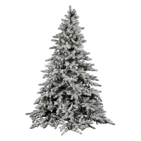 Vickerman Unlit 7.5' Flocked Utica Fir Artificial Christmas - Flocked Utica Tree