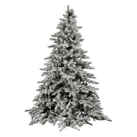 Vickerman Unlit 7.5' Flocked Utica Fir Artificial Christmas Tree - Vickerman Unlit 7.5' Flocked Utica Fir Artificial Christmas Tree