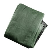 ALEKO Privacy Mesh Fabric Screen Fence with Grommets - 4 x 25 Feet - Dark Green