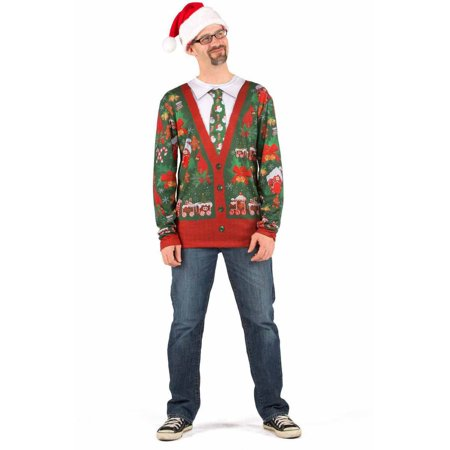 Ugly Cardigan with Tie Shirt Men's Adult Halloween Costume