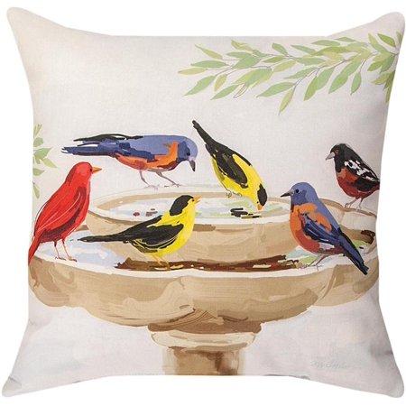 Pair of bath time birds 18in indoor outdoor decorative for Decorative birds for outside