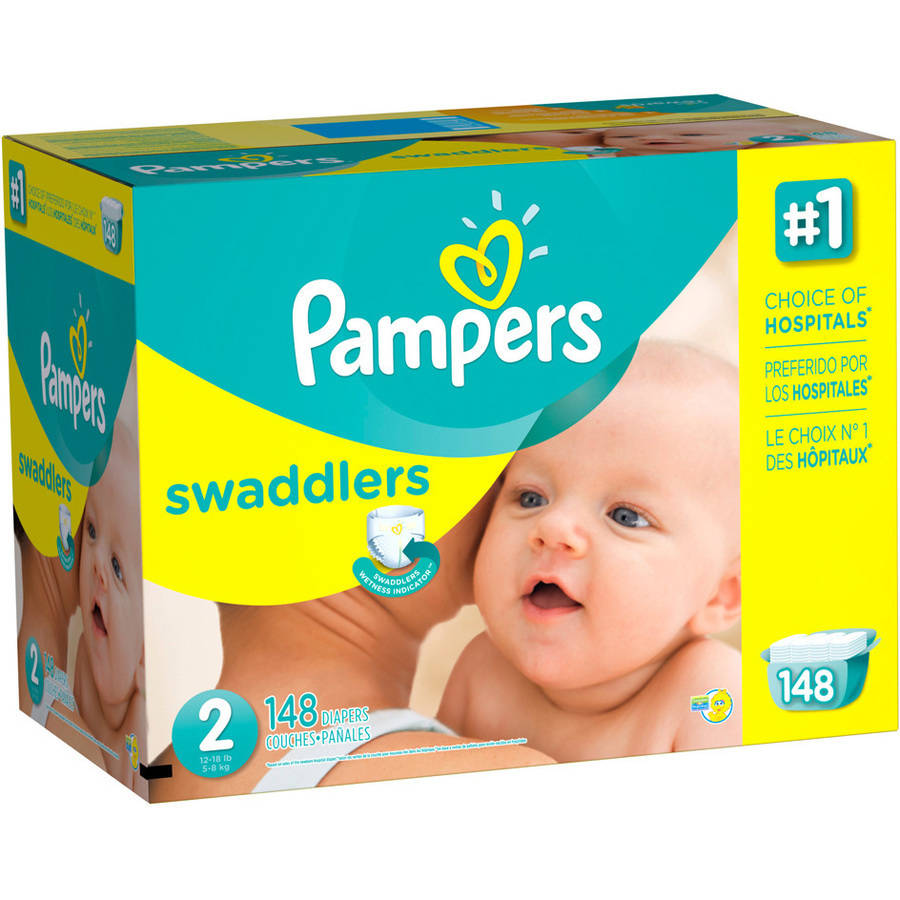 Pampers Swaddlers Diapers, Size 2 (Choose Diaper Count)