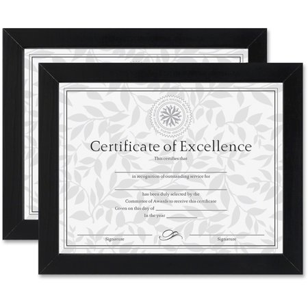 Dax Documentcertificate Frames Wood 8 12 X 11 Black Set Of Two
