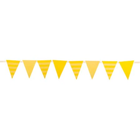 Yellow Striped Banner Party Decoration Party Supplies