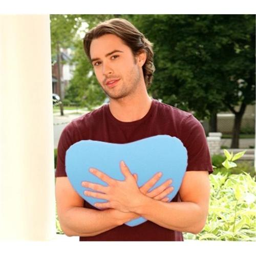 Living Health Products HSP-001-05 Heart-Shaped Pillow Light Blue
