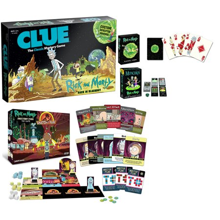 Rick And Morty Game Night Bundle  Anatomy Park  Munchkin  Cards  Clue Board Game