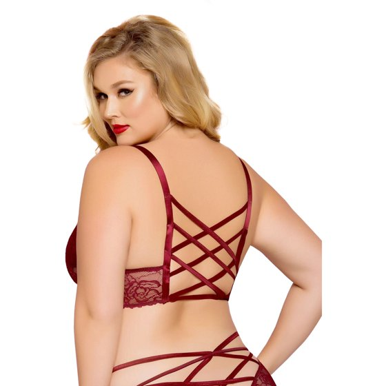 e3ee664ab Seven Til Midnight - Plus Size Sexy Galloon Lace Lattice Detail ...