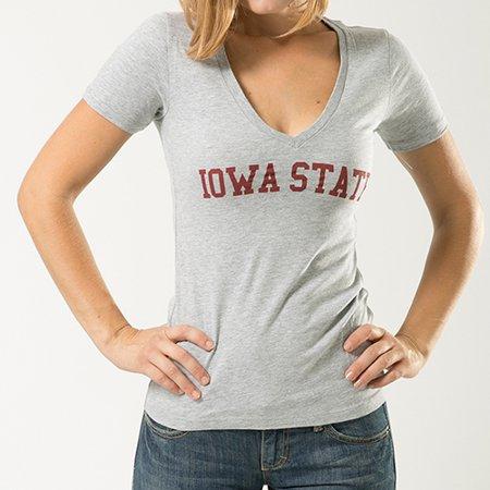 Iowa State University, Medium, NCCAA, Game Day Tee T-shirt, W Republic, Heather Grey