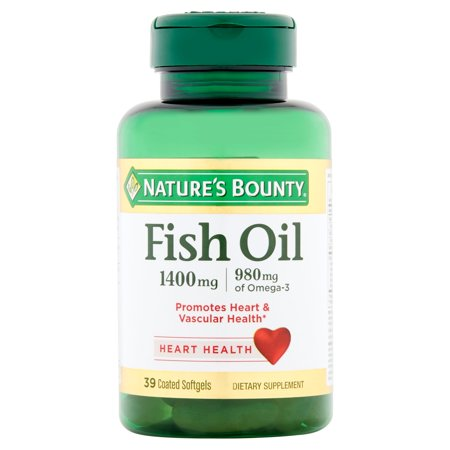 Nature's Bounty Fish Oil Omega-3 Coated Softgels, 1400 Mg, 39 (Nature's Best Fish Oil)
