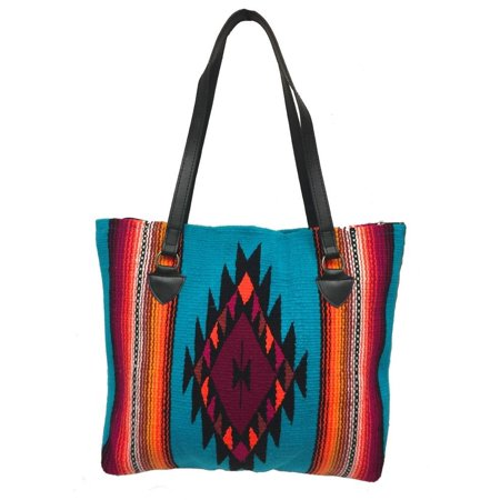 San Carlos Ladies Purse Tote Shopper Soft Colorful Southwestern Serape Designs