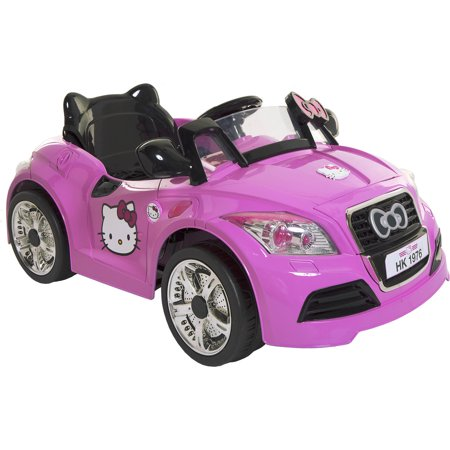 Dynacraft Hello Kitty 6V Sports Car Battery-Powered Ride-On