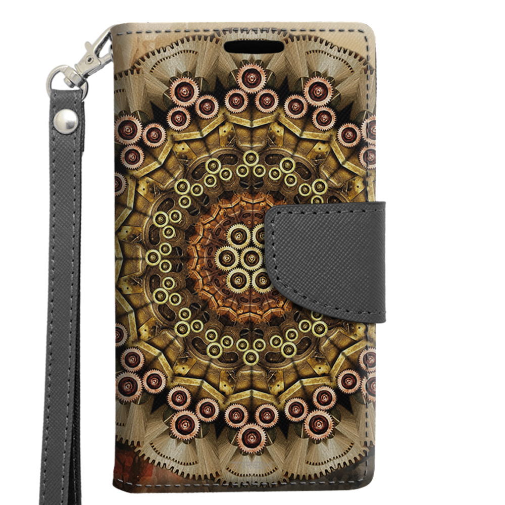 Alcatel OneTouch Elevate Wallet Case - Mandala Clockwork