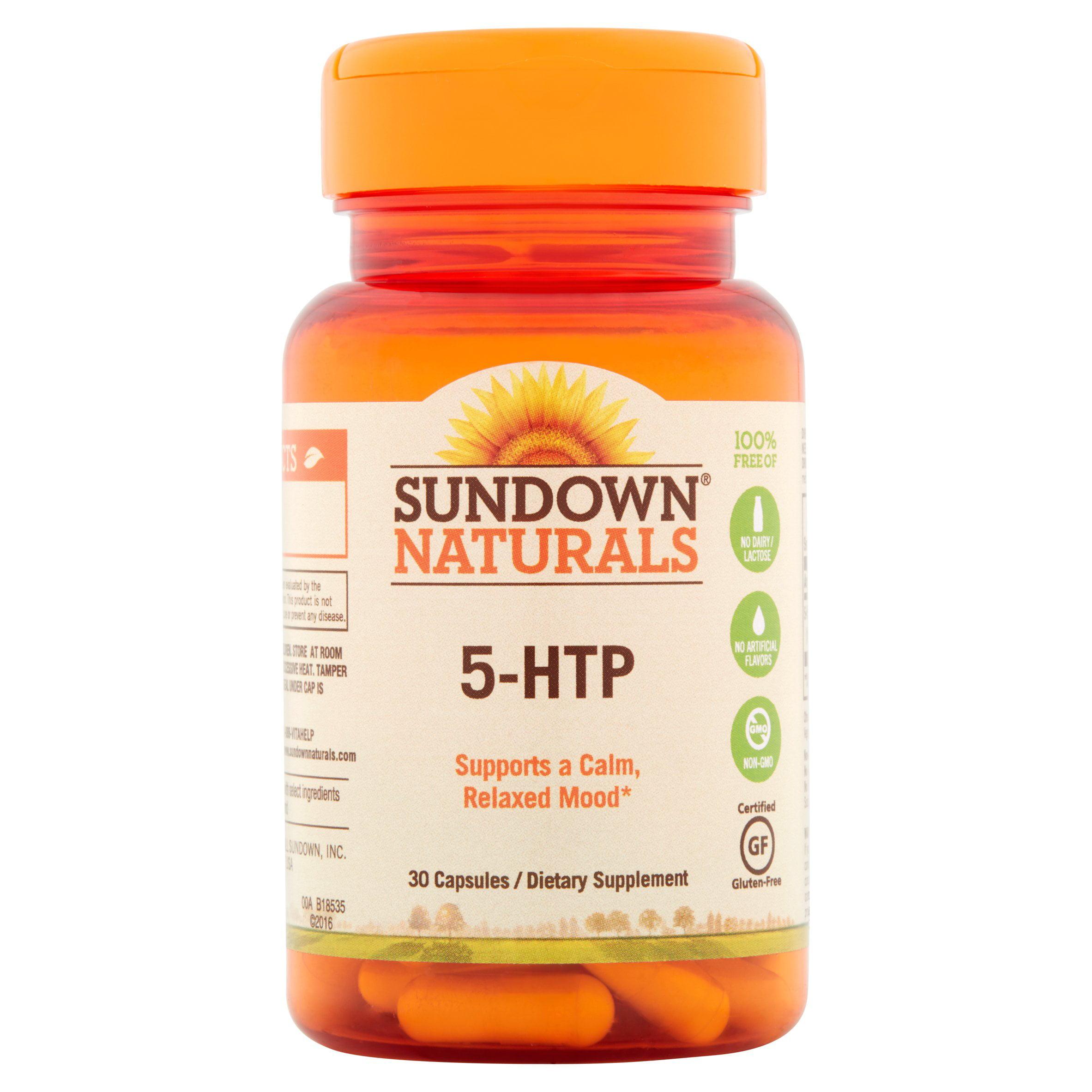 Sundown Naturals 5-HTP Capsules, 30 count