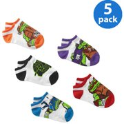 Boys' No Show Socks, Pack 5