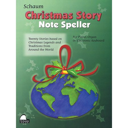 SCHAUM Christmas Story Note Speller Educational Piano Book by Wesley Schaum (Level Elem)