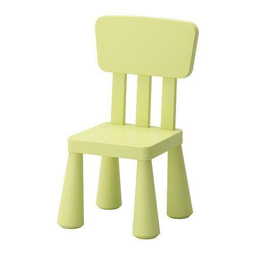 1 X Ikea's Children's Chair, Light Green by SMJAITD, MAMMUT