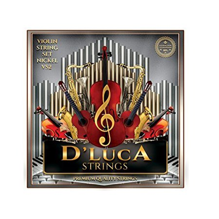 D'Luca Stainless Steel Core Flat Nickel Wound with Ball End Violin String Set 4/4 (Suzuki Style Violin String)