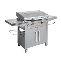 "Blackstone ProSeries 2-Burner 28"" Griddle Cooking Station with Hood"