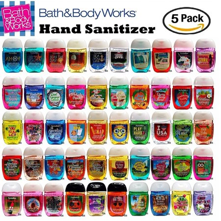 Bath and Body Works Anti-Bacterial Hand Gel 5-Pack PocketBac Sanitizers, Assorted Scents, 1 fl oz each - Bath And Body Works Halloween Pocketbac Holders