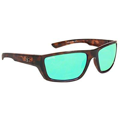 calcutta sw1gmtort shock wave sunglasses, tortoise frame/green mirror (Shock Sunglasses)